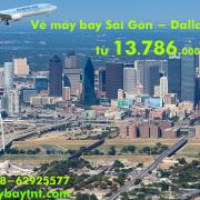 Vé máy bay Sài Gòn Dallas (TPHCM đi Dallas, DFW, Mỹ) Korean Air