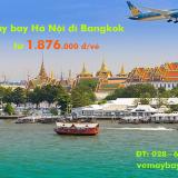 Giá vé máy bay Vietnam Airlines Hà Nội đi Bangkok, Thái lan từ 1.876k