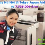 Vé máy bay Hà Nội đi Tokyo, Tokyo về Hà Nội Japan Airlines từ 7.556k