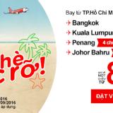 Air Asia khuyến mãi chỉ từ 8 USD