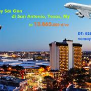 Vé máy bay Sài Gòn San Antonio, Texas, Mỹ American Airlines từ 13865k