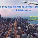 Vé máy bay Hà Nội Chicago, Illinois, Mỹ (HAN - ORD) Eva Air từ 11.155k