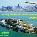 Vé máy bay Hà Nội San Francisco (HAN - SFO) Eva Air từ 9.890.k
