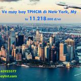 Vé máy bay Eva Air TPHCM đi New York (Sài Gòn - New York) từ 11.218k