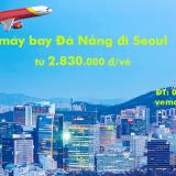 Vé máy bay Đà Nẵng Seoul, Hàn Quốc (DAD – ICN) Vietjet Air từ 2.830k