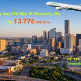 Vé máy bay Hà Nội Houston, Texas, Mỹ (HAN - IAH) Eva Air từ 13.776k