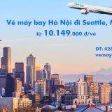 Vé máy bay Hà Nội Seattle (sân bay Seattle Tacoma) Eva Air từ 10.159k
