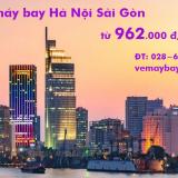 Vé máy bay Hà Nội Sài Gòn tháng 4/2020 (Hà Nội đi TPHCM) từ 962k