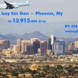 Vé máy bay Sài Gòn Phoenix, Arizona, Mỹ(SGN – PHX) Cathay 12.915k