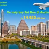 Vé máy bay Sài Gòn Austin, Mỹ (SGN-AUS) American Airlines từ 14.450k