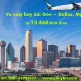 Vé máy bay TPHCM đi Dallas, Texas (Sài Gòn-Dallas) Cathay Pacific từ 13.460k