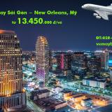 Vé máy bay TPHCM Sài Gòn New Orleans, Lousiana (SGN-MSY)từ 13.450k