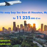 Vé máy bay Sài Gòn Houston, Texas (SGN–IAH) Cathay Pacific từ 11.235k
