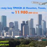 Vé máy bay TPHCM đi Houston, Texas (SGN – IAH) Qatar Airways từ 11.980k