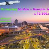 Vé máy bay Sài Gòn Memphis (SGN – MEM) Cathay Pacific từ 13.390k