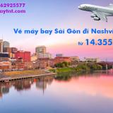 Vé máy bay Sài Gòn Nashvilles (SGN-BNA) American Airlines từ 14.355 k
