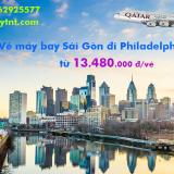 Vé máy bay Sài Gòn Philadelphia (SGN – PHL) Qatar Airways từ 13.480k