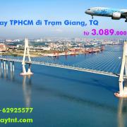 Vé máy bay TPHCM đi Trạm Giang (Sài Gòn Zhanjiang, TQ) từ 3.089k