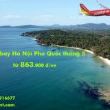 Vé máy bay Hà Nội Phú Quốc giá rẻ tháng 5/2019, rẻ nhất từ 863k