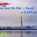 Giá vé máy bay Hà Nội Incheon (Hà Nội Seoul) Vietjet Air từ 2.379k