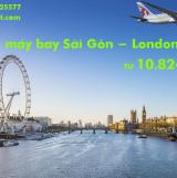 Vé máy bay Sài Gòn London (TPHCM đi London) Qatar Airways từ 10.824k
