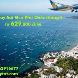 Giá vé máy bay Sài Gòn Phú Quốc rẻ nhất TPHCM tháng 5/2019 từ 629k