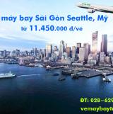 Vé máy bay Sài Gòn Seattle, Mỹ (TPHCM đi Seattle) giá rẻ từ 11.450k