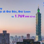 Vé máy bay Hà Nội Đài Bắc, Đài Loan (Hà Nội đi Taipei) giá rẻ từ 1769k