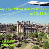 Vé máy bay TPHCM đi New Orleans (Sài Gòn - New Orleans, Mỹ) từ 13.324k