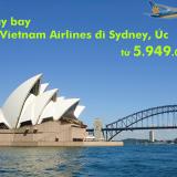Vé máy bay Vietnam Airlines đi Sydney, Úc giá rẻ nhất từ 5.949.000 đ