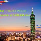 Vé máy bay khứ hồi từ TPHCM đi Đài Loan giá rẻ nhất từ 2.850.000 đ