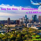 Vé máy bay TPHCM đi Minneapolis (Sài Gòn - Minneapolis) từ 13.445k