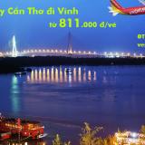 Vé máy bay Cần Thơ đi Vinh, từ Vinh đi Cần Thơ Vietjet từ 811.000 đ