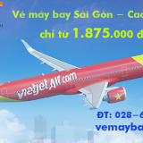 Vé máy bay Sài Gòn đi Cao Hùng (TPHCM đi Kaohsiung) Vietjet Air