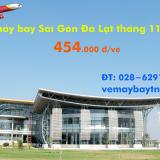 Vé máy bay Sài Gòn Đà Lạt (TPHCM đi Đà Lạt) từ 454 k tháng 11, 12