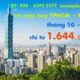 Vé máy bay Sài Gòn Đài Bắc (TPHCM đi Taipei) tháng 10, 11, 12