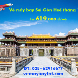 Vé máy bay Sài Gòn Huế giá rẻ tháng 11, 12 từ 619.000 đ/vé