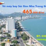Vé máy bay Sài Gòn Nha Trang (TPHCM đi Nha Trang) chỉ từ 465 k
