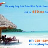 Vé máy bay Sài Gòn Phú Quốc từ 610 k rẻ nhất tháng 11, 12