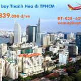 Vé máy bay Thanh Hóa đi TP Hồ Chí Minh (TPHCM) tháng 11, 12 từ 839 k