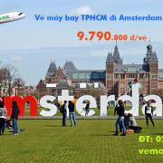 Vé máy bay TPHCM đi Amsterdam (Sài Gòn – Amsterdam) Eva Air từ 9.790 k