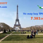 Vé máy bay Sài Gòn Paris (TPHCM đi Paris, Pháp) Eva Air từ 7.383 k