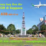 Vé máy bay TPHCM đi Sapporo (Sài Gòn – Sapporo) Eva Air từ 5.638 k