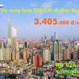 Vé máy bay TPHCM đi Đài Bắc (Taipei) khứ hồi tháng 12 từ 3.405 k