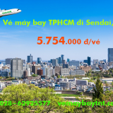 Vé máy bay TPHCM đi Sendai (Sài Gòn - Sendai, Nhật) Eva Air từ 5.754k