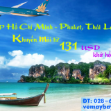Vé máy bay Vietnam Airlines khuyến mãi TPHCM đi Phuket khứ hồi 131 USD