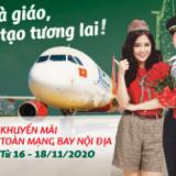 Vietjet khuyến mãi 0 đ chào mừng ngày Nhà Giáo Việt Nam