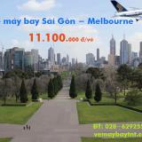 Vé máy bay Sài Gòn Melbourne khứ hồi Singapore Airlines từ 11.100k