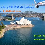 Vé máy bay Sài Gòn Sydney, Úc (SGN-SYD) Malaysia Airlines từ 7.560k