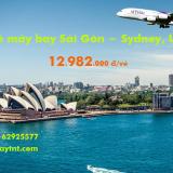 Vé máy bay Sài Gòn Sydney Thai Airways (TPHCM đi Sydney) từ 12.982k